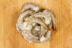 Сырцовые, который слезли креветки или креветки Стоковое Изображение RF