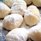 Сырцовые макаронные изделия gnocchi Стоковое Фото