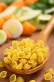 Сырцовые макаронные изделия раковины Стоковая Фотография