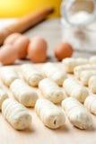 Сырцовые макаронные изделия для закуски Стоковое Фото