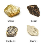 Сырцовые минералы Стоковое фото RF