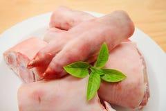Сырцовые ноги свинины стоковое фото