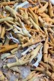 Сырцовые ноги цыплят на рынке Стоковая Фотография RF