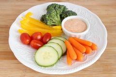 Сырцовые овощи с погружением Стоковое Фото
