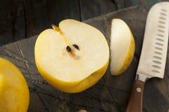 Сырцовые органические желтые груши Яблока азиата Стоковые Изображения RF