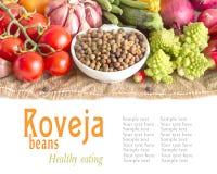 Сырцовые органические фасоли и овощи roveja стоковое изображение