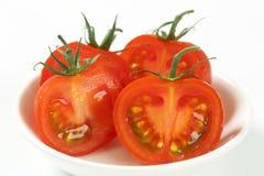 Сырцовые половины томата Стоковые Фото