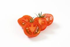 Сырцовые половины томата Стоковое Изображение RF