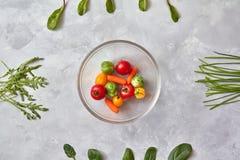 Сырцовые свежие овощи в плите Стоковое Изображение