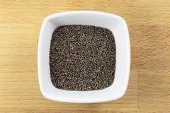 Сырцовые семена Chia Стоковая Фотография