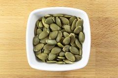 Сырцовые семена Pepitas или тыквы Стоковая Фотография RF