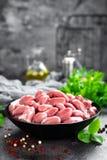 Сырцовые сердца цыпленка Свежие сердца цыпленка Стоковые Изображения RF