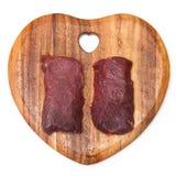 Сырцовые стейки мяса верблюда Стоковая Фотография