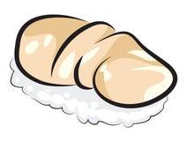 Сырцовые суши Scallop Стоковое Изображение RF