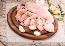 Сырцовые филе куриной грудки стоковое фото