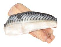 Сырцовые филе рыб скумбрии Стоковая Фотография RF