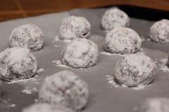 Сырцовые шарики печенья Стоковые Фото