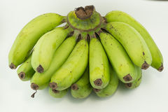 Сырцовый банан, белая предпосылка Стоковые Изображения