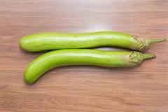 Сырцовый зеленый овощ баклажана Стоковая Фотография