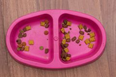 Сырцовый и магазин-купленный корм для домашних животных Как раз естественные ингредиенты с большим количеством питательных вещест стоковые фотографии rf