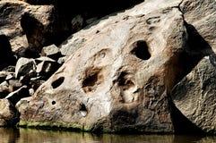 Сырцовый каменный конец текстуры вверх Стоковое Изображение RF