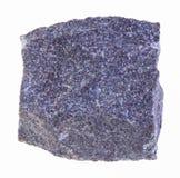 сырцовый камень алунита на белизне стоковые фотографии rf