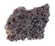 сырцовый камень пемзы на белизне стоковые изображения rf