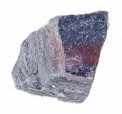 сырцовый камень jaspillite на белизне стоковое изображение