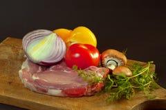 Сырцовый кол с овощами Стоковая Фотография