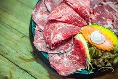 Сырцовый кусок говядины для BBQ Стоковое фото RF