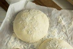 Сырцовый органический белый шарик теста пиццы Стоковая Фотография