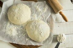 Сырцовый органический белый шарик теста пиццы Стоковое Изображение