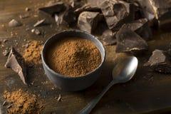 Сырцовый органический темный бурый порох шоколада Стоковая Фотография RF