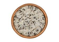 Сырцовый рис в шаре Стоковое Изображение RF