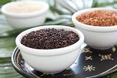 сырцовый рис Стоковая Фотография