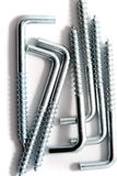 сырцовый серебр винтов Стоковое фото RF