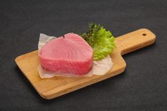Сырцовый стейк тунца стоковое фото