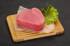 Сырцовый стейк тунца стоковая фотография rf