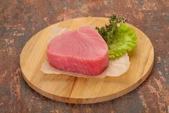 Сырцовый стейк тунца стоковое фото rf