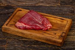 Сырцовый стейк фланка говядины стоковые фотографии rf