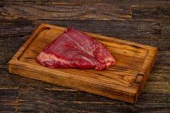 Сырцовый стейк фланка говядины стоковые изображения rf