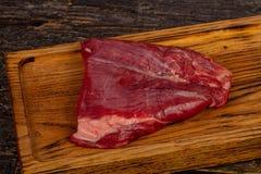 Сырцовый стейк фланка говядины стоковое изображение