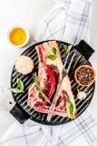 Сырцовый стейк striplon говядины Стоковые Фотографии RF