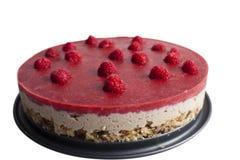 Сырцовый торт Белая предпосылка Стоковое Изображение RF