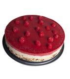 Сырцовый торт сверху Белая предпосылка Стоковое фото RF