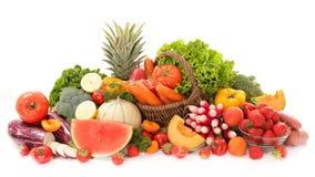 Сырцовый фрукт и овощ стоковое изображение rf