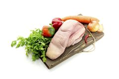 Сырцовый язык говядины стоковые фото