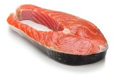 Сырцовый salmon стейк Стоковое фото RF