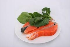 сырцовый salmon шпинат Стоковое Изображение