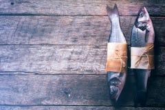 2 сырцовых басовых рыбы Стоковое Изображение RF